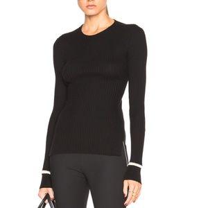 Maison Margiela Black Lace Up Back Sweater